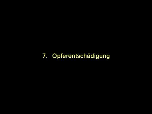 Vidoe: 7. Opferentschädigung